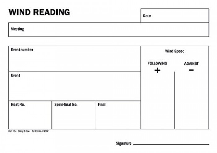 Wind Reading Pad (Ref 154)