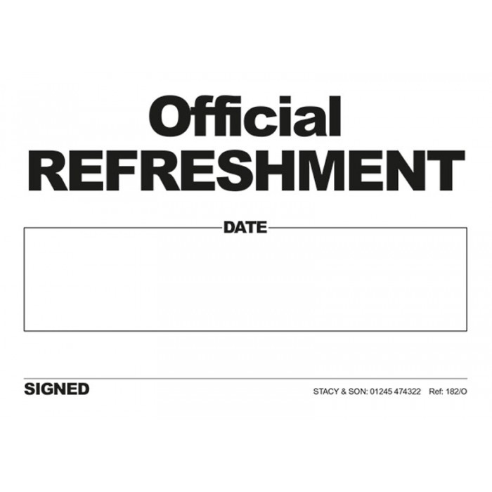Refreshment Tickets